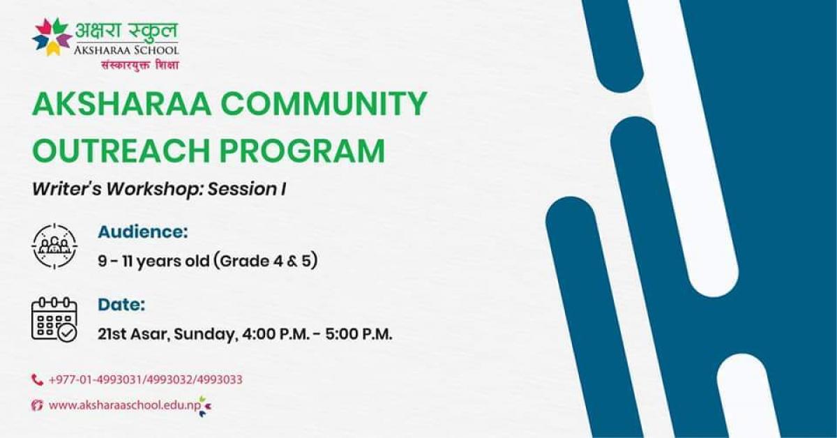 Aksharaa Community Outreach Program